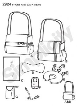 2924 Simplicity Pattern: His and Hers Nappy Bags and Baby Accessories